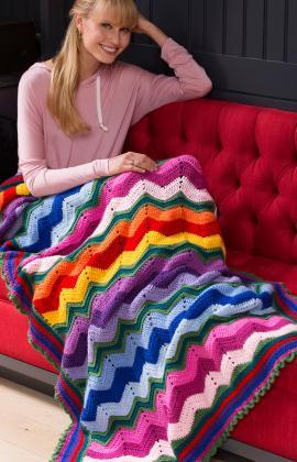 Rippling crochet blanket