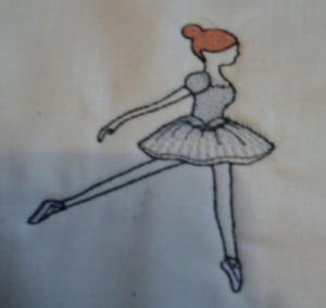 Ballerina embroidery